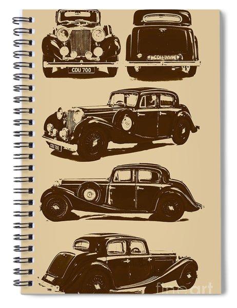 Jaguar Mark Iv Ss 2.5 Saloon Spiral Notebook