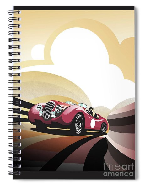 Jaguar Xk 120 Spiral Notebook