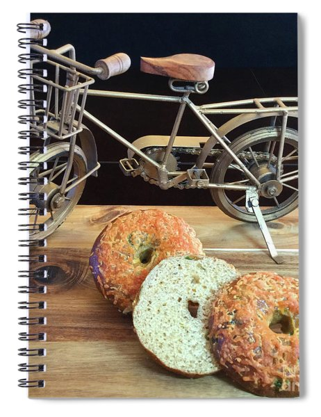 Jalapeno Cheddar Sourdough Bagels Spiral Notebook
