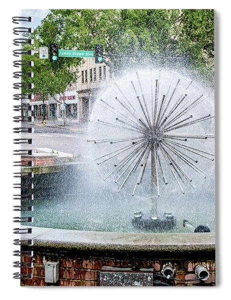 James Brown Blvd Fountain - Augusta Ga Spiral Notebook