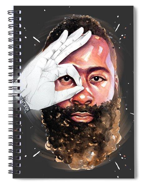 James Harden, Houston Rockets Spiral Notebook
