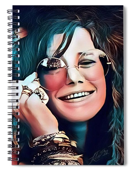 Janis The Rose Spiral Notebook