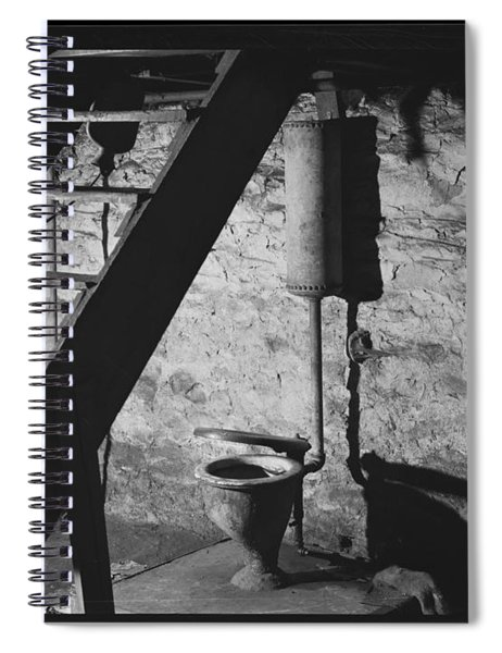 January 1940.  This Is The Only Toilet In A Two-family House In New Brighton, Pennsylvania.  Medium  Spiral Notebook