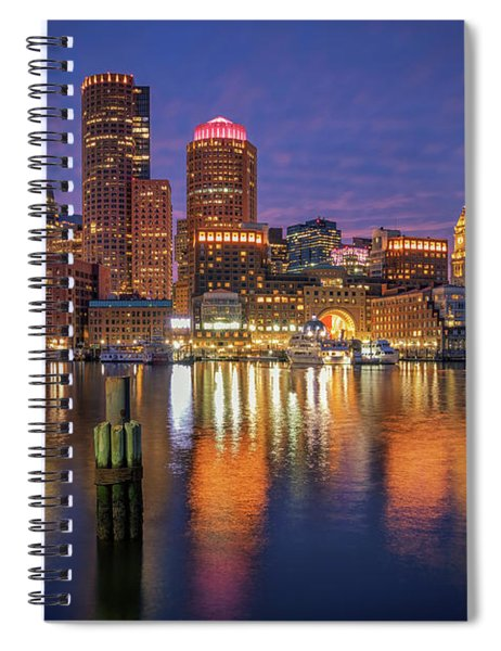 January Sunset At Fan Pier Spiral Notebook