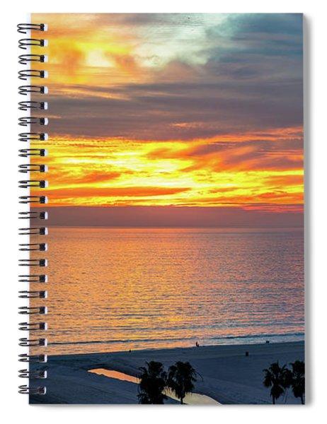 January Sunset - Vertirama Spiral Notebook