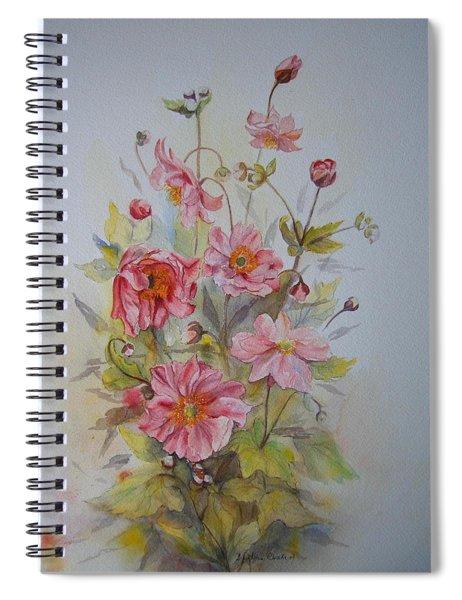 Japanese Anemones Spiral Notebook