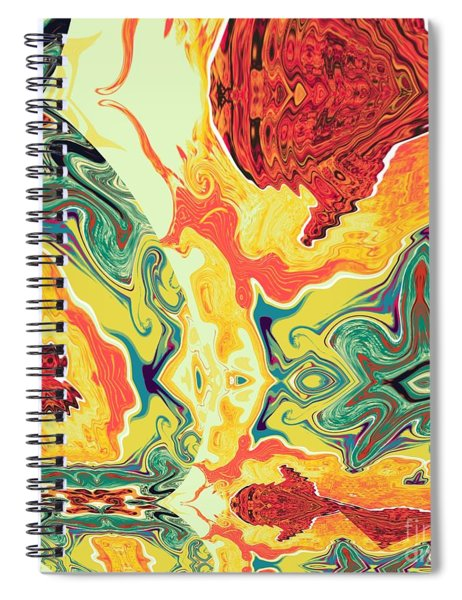 Spiral Notebook featuring the digital art Jar by A z Mami