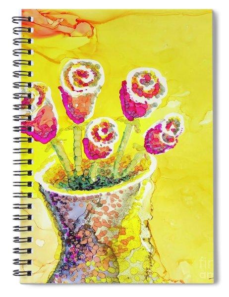 Jaunty Rosebuds Spiral Notebook