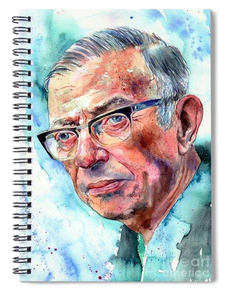 Jean-paul Sartre Portrait Spiral Notebook
