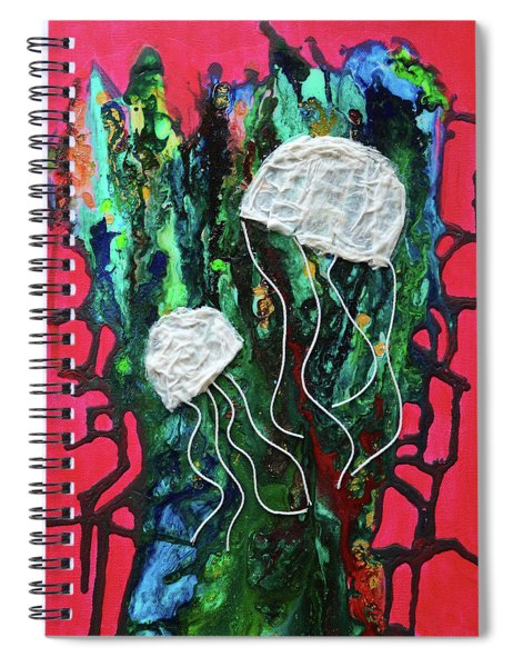 Jellyfish In A Sea Of Coral Spiral Notebook