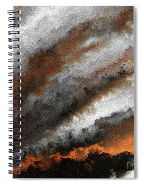 Jeremiah 20 9 Fire In My Heart Spiral Notebook
