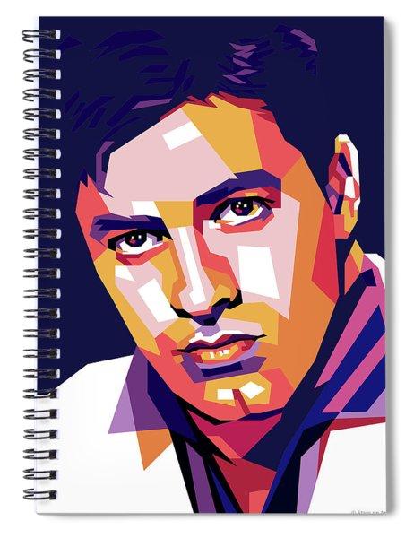 Jerry Lewis Illustration Spiral Notebook