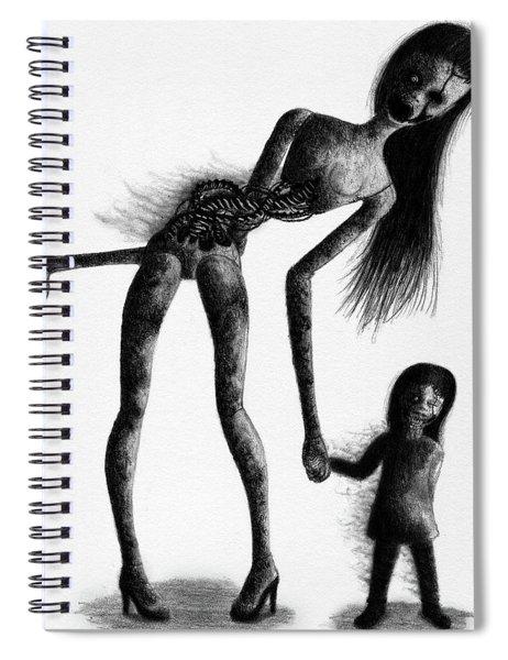 Jessica And Her Broken - Artwork Spiral Notebook