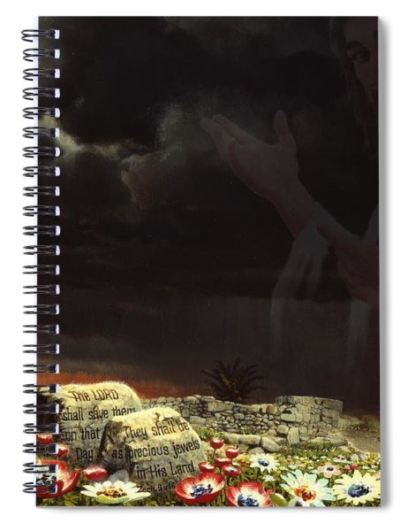 Jesus And His Jewels Spiral Notebook