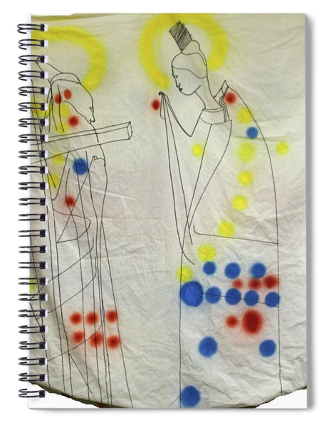Jesus Christ Meets Our Lady On Calvary Spiral Notebook