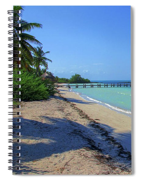 Jetty On Isla Contoy Spiral Notebook