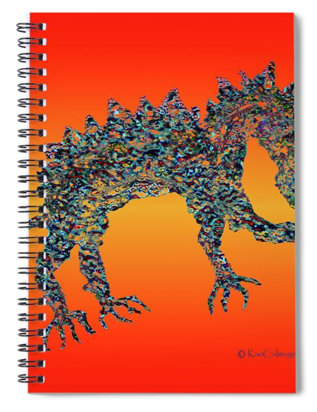 Jeweled Beast Dragon 1  Spiral Notebook