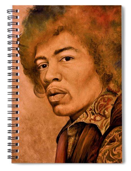 Jimi H By Grizel Spiral Notebook