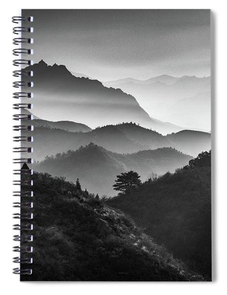 Jinshanling Ridges Spiral Notebook by Inge Johnsson