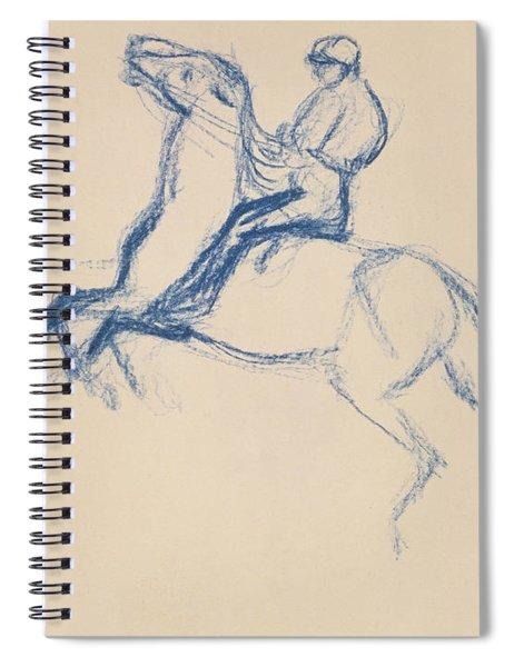 Jockey On Horseback Spiral Notebook