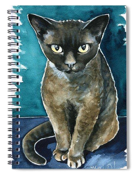 Joey - Devon Rex Cat Painting Spiral Notebook