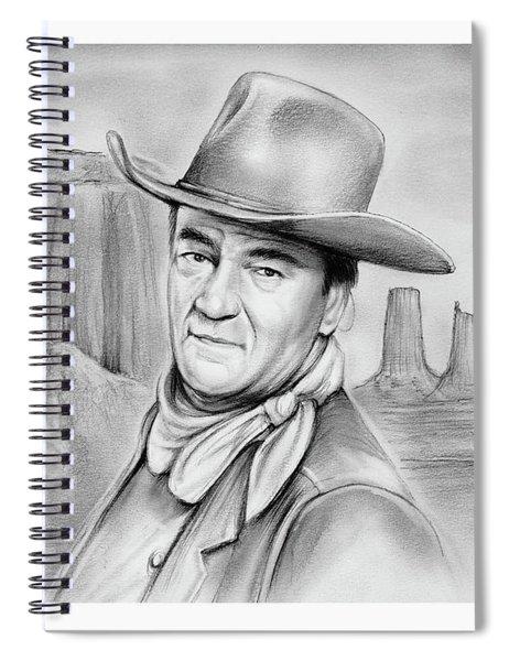 John Wayne 07oct18 Spiral Notebook