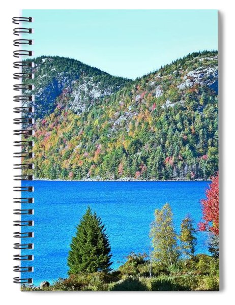 Spiral Notebook featuring the photograph Jordan Pond Bubbles by Patti Whitten