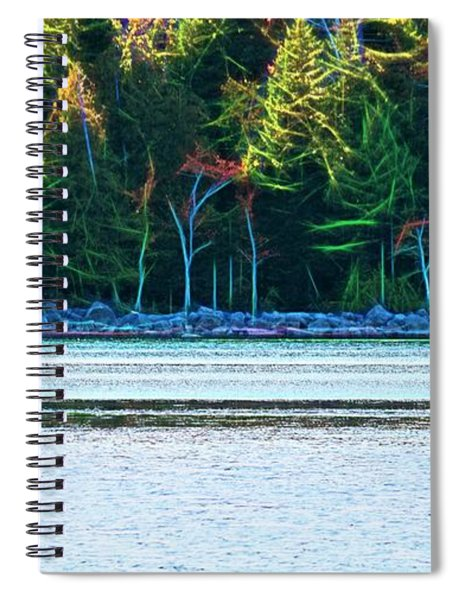 Jordan Pond Kayak Spiral Notebook by Patti Whitten