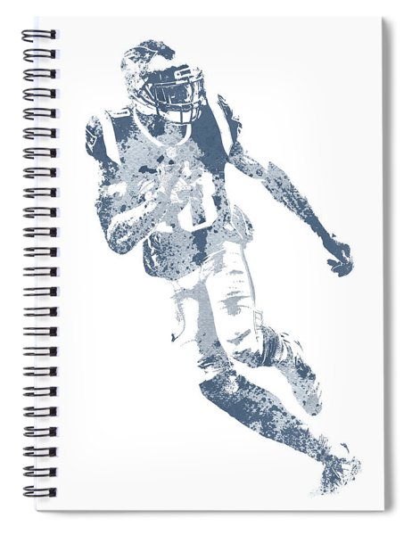 Josh Gordon New England Patriots Water Color Pixel Art 1 Spiral Notebook