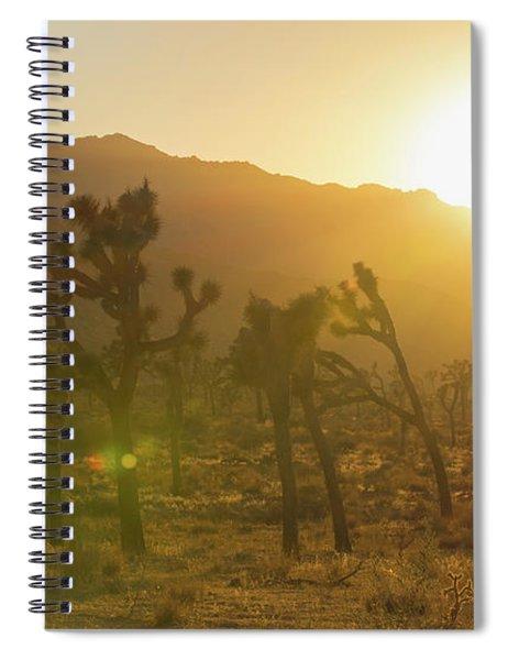 Joshua Tree At Sunset Spiral Notebook