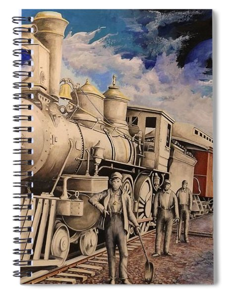 Journey Through The Mists Of Time Spiral Notebook