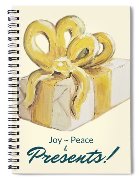 Joy, Peace And Presents Spiral Notebook