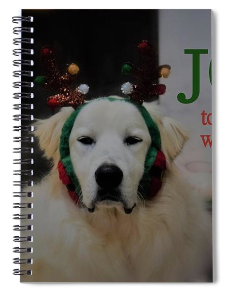 Joy To The World Pyrenees Spiral Notebook by Patti Whitten