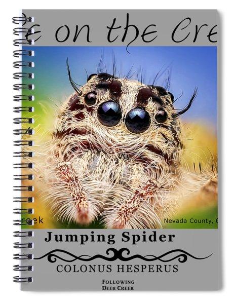 Jumping Spider Colonus Hesperus Spiral Notebook