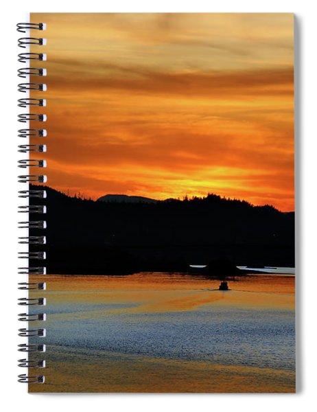 Juneau Alaska Sunset 2019 Spiral Notebook