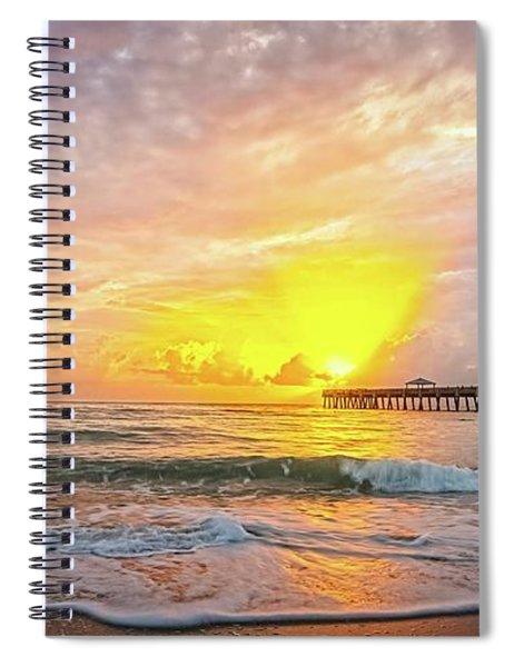 Juno Beach Pier Sunrise 2 Spiral Notebook