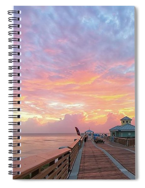 Juno Beach Pier Sunrise Spiral Notebook
