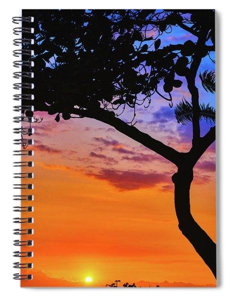 Just Another Kona Sunset Spiral Notebook