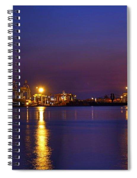 Kaohsiung Port At Dusk Spiral Notebook