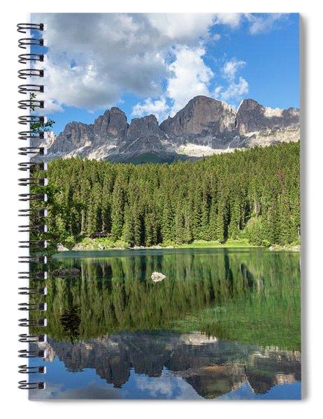 Karersee And Rosengarten Group Spiral Notebook