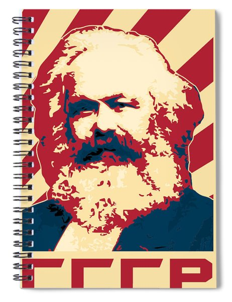 Karl Marx Cccp Retro Propaganda  Spiral Notebook