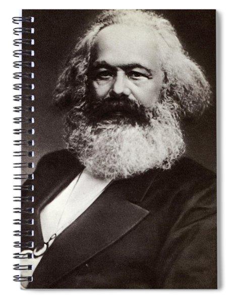 Karl Marx Portrait Spiral Notebook