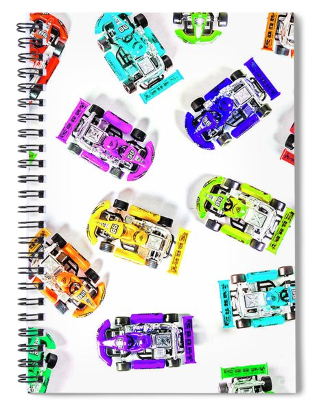Karting Patterns Spiral Notebook