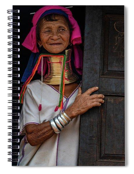 Kayan Lahwi Long Necked Lady Spiral Notebook