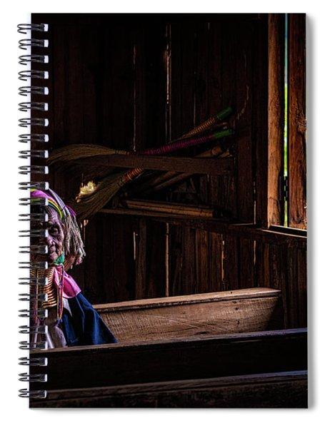 Kayan Woman In Ancient Church Spiral Notebook