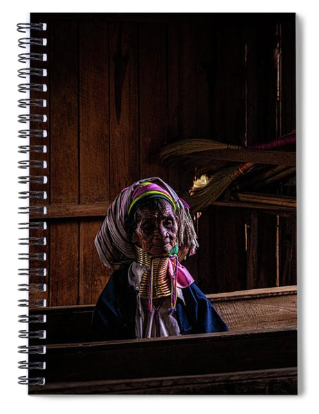 Kayan Woman In Ancient Church Spiral Notebook