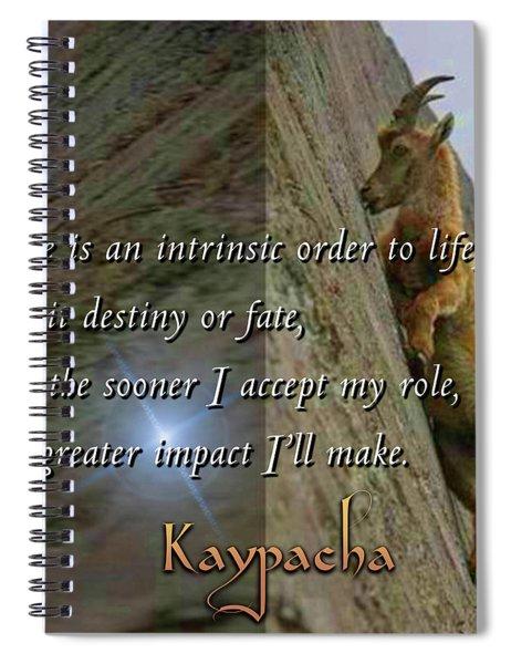 Kaypacha - September 26, 2018 Spiral Notebook