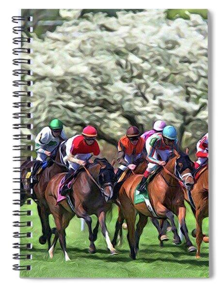 Keeneland Down The Stretch Spiral Notebook