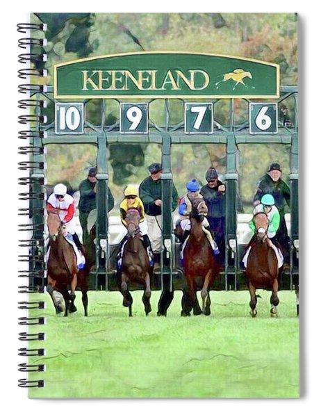 Keeneland Starting Gate Spiral Notebook