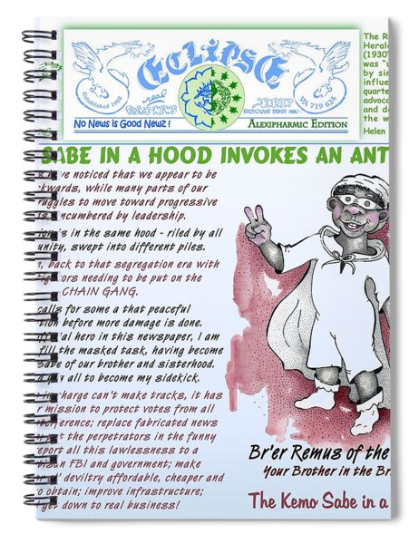 Kemo Sabe In A Hood Spiral Notebook